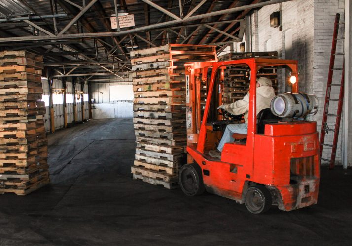 Forklift trucks for moving freight